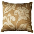Chantal Clay Brown Floral Decorative Throw Pillow (Set of 2)