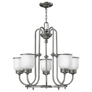 Easton Collection Hinkley 5-light Polished Antique Nickel Chandelier