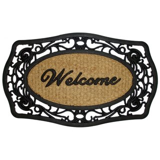 Celebration Welcome Rubber/ Coir Outdoor Mat