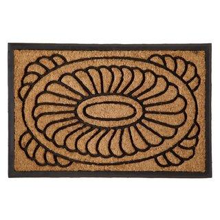 Celebration Medallion Design Coir/ Rubber Outdoor Mat
