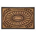 Celebration Medallion Design Coir/ Rubber Outdoor Mat