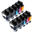 Sophia Global Compatible Ink Cartridge Replacement for Brother LC41 (4 Black, 2 Cyan, 2 Magenta, 2 Yellow)