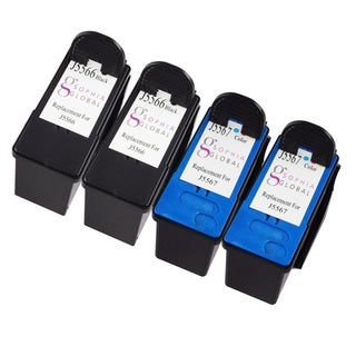 Sophia Global Remanufactured Ink Cartridge Replacement for Dell J5566 and J5567 (2 Black, 2 Color)