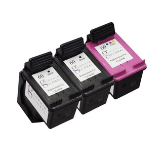 Sophia Global Remanufactured Ink Cartridge Replacement for HP 60 (2 Black, 1 Color)