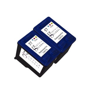 Sophia Global Remanufactured Ink Cartridge Replacement for HP 57 (2 Color)