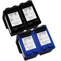Sophia Global Remanufactured Ink Cartridge Replacement for HP 21 and HP 22 (2 Black, 2 Color)