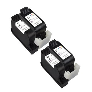 Sophia Global Remanufactured Ink Cartridge Replacement for HP 45 and HP 23 (2 Black, 2 Color)