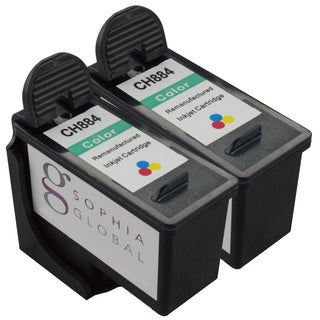 Sophia Global Remanufactured Ink Cartridge Replacement for Dell CH884 Series 7 (2 Color)