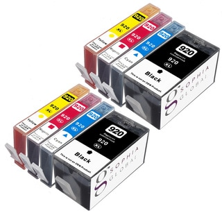 Sophia Global Remanufactured Ink Cartridge Replacement for HP 920XL (2 Black, 2 Cyan, 2 Magenta, 2 Yellow)