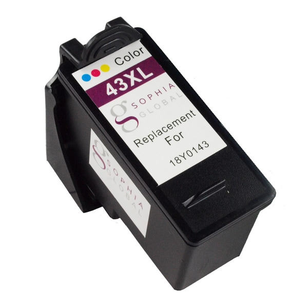 Sophia Global Remanufactured Ink Cartridge Replacement for Lexmark 43XL (1 Color)