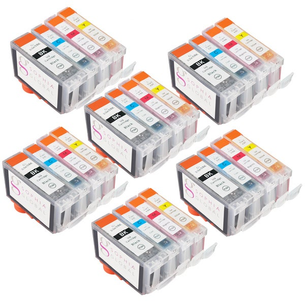Sophia Global Compatible Ink Cartridge Replacement for Canon BCI-3e (6 Black, 6 Cyan, 6 Magenta, 6 Yellow)