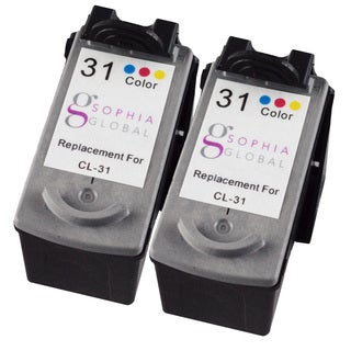 Sophia Global Remanufactured Ink Cartridge Replacement for Canon CL-31 (2 Color)
