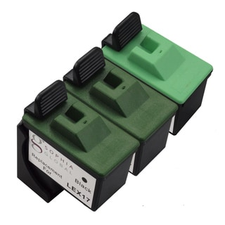 Sophia Global Remanufactured Ink Cartridge Replacement for Lexmark 17 and Lexmark 27 (2 Black and 1 Color)