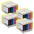 Sophia Global Compatible Ink Cartridge Replacement for Brother LC51 (8 Black, 4 Cyan, 4 Magenta, and 4 Yellow)