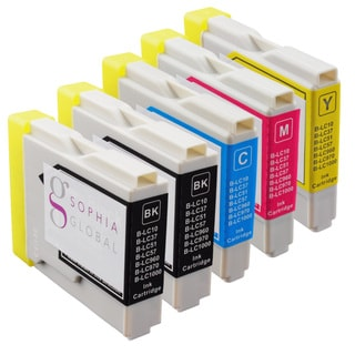 Sophia Global Compatible Ink Cartridge Replacement for Brother LC51 (2 Black, 1 Cyan, 1 Magenta, and 1 Yellow)