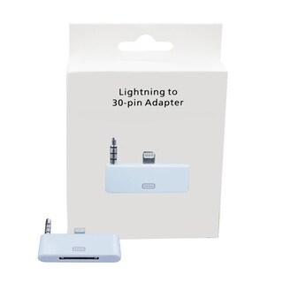 Sophia Global White Audio Adapter for 30-pin to Lighting Compatible with iPhone 5, 5S, 5C