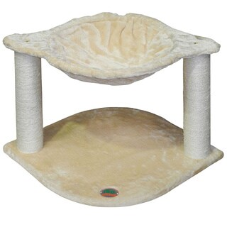 Go Pet Club 18-inch Faux Fur Cat Tree with Basket