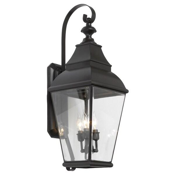 Bristol 3-light Charcoal Outdoor Wall Lantern