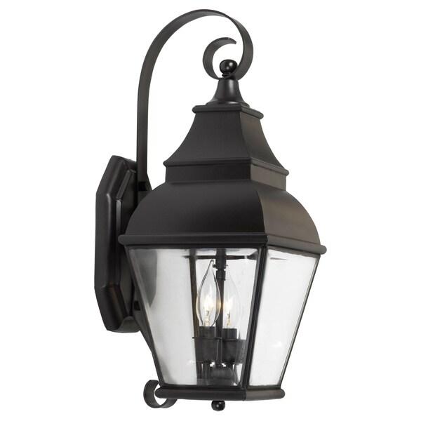 Bristol 2-light Charcoal Outdoor Wall Lantern