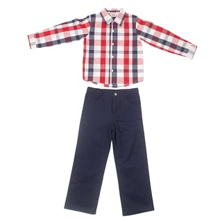 Peanut Buttons Boy's Yarn Dye Clothing Set