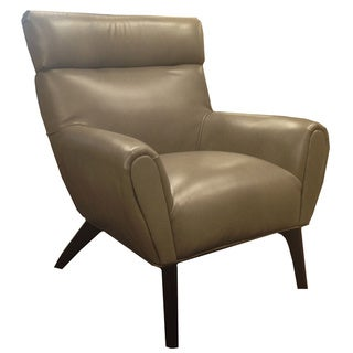 Laguna Smoke Grey Bonded Leather Club Chair