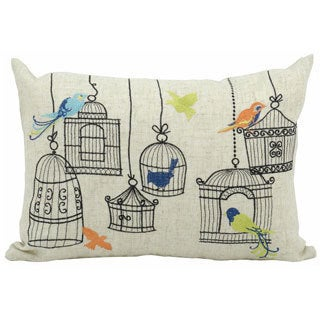 Victory Bird Cage 12x18-inch Throw Pillow