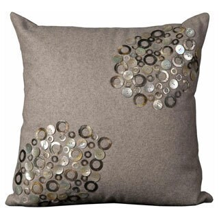 Mina Victory Luminescence Silver 20-inch Square Throw Pillow