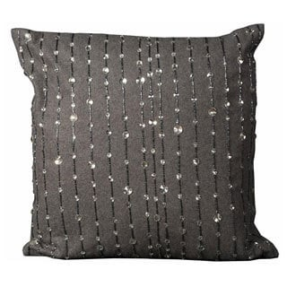 Mina Victory Luminescence Grey 20-inch Square Throw Pillow
