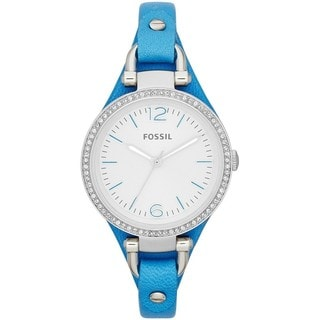 Fossil Women's 'Georgia' Blue Chronograph Watch