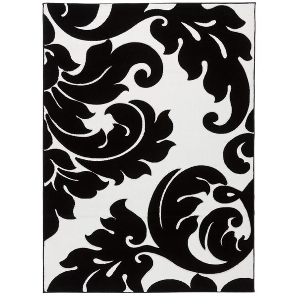 Hand Carved Damask Vines Modern Contemporary Classic