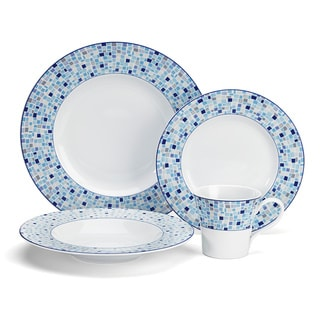 Cuisinart 'Aleria' 16-piece Blue Dinnerware Set
