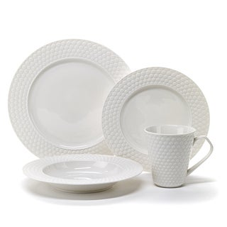 Cuisinart 'Chailles' 16-piece White Dinnerware Set