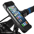 Ibera Bike Black/White iPhone 5 Smartphone Cam Case and Spring-Loaded Adjustable Angle Stem Mount