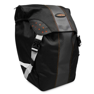 Ibera Bike PakRak All-Weather Single Pannier with Rain Cover, Clip-On and Quick-Release