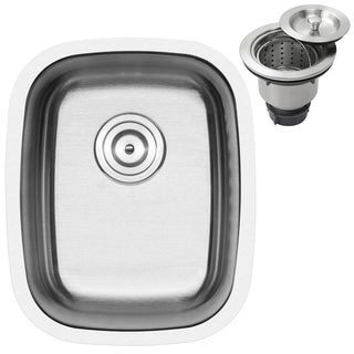 Ticor 15-inch 16-gauge Stainless Steel Undermount Kitchen Sink with Accessories