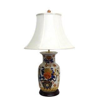 Imari Design Round Porcelain Table Lamp