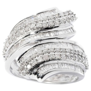 Sterling Silver 1ct TDW Diamond Ring (H-I, I2-I3)