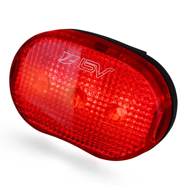 BV 3-mode Quick Release Water Resistant Bike Light 3-LED Red Taillight