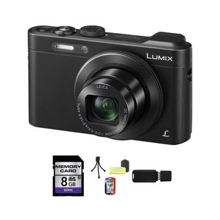 Panasonic Lumix DMC-LF1 Wi-Fi 12.1MP Black Digital Camera 8GB Bundle