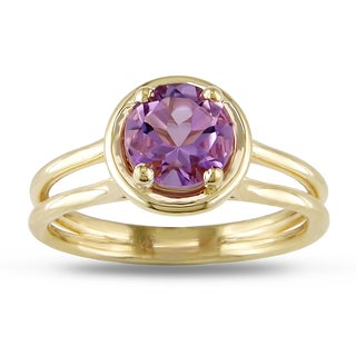 Miadora 14k Yellow Gold Amethyst Solitaire Ring