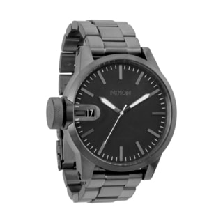 Nixon Men's Chronicle Stainless Steel A198 All Gunmetal Watch