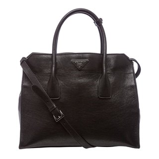 Prada 'Glace' Black Calf Leather Tote