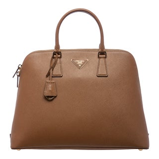 Prada 'Lux' Caramel Saffiano Leather Satchel