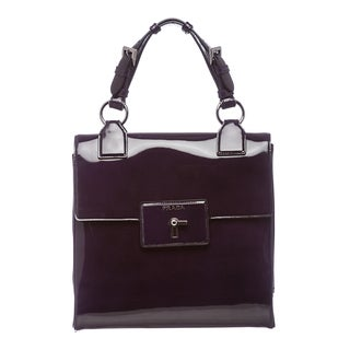 Prada Purple Spazzolato Leather Gusset Shoulder Bag
