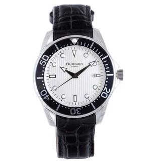Rudiger Men's Chemnitz Luminous Date Leather Watch
