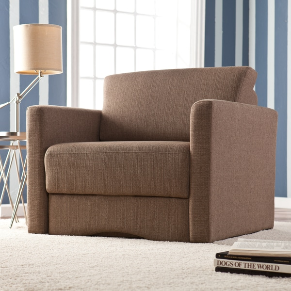 Upton Home Jackson Brown Upholstered Sleeper Chair with Storage