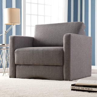 Upton Home Jackson Gray Upholstered Sleeper Chair with Storage