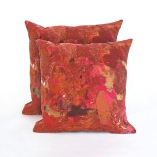 Red Quarry Indoor/Outdoor 18 in Throw Pillows (Set of 2)