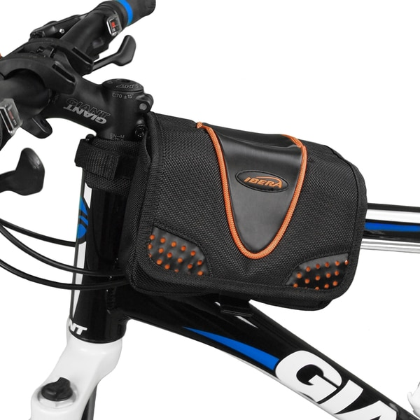 Ibera IB-TB1 Bike All-Weather Frame Top Tube Mini Panniers with Pocket