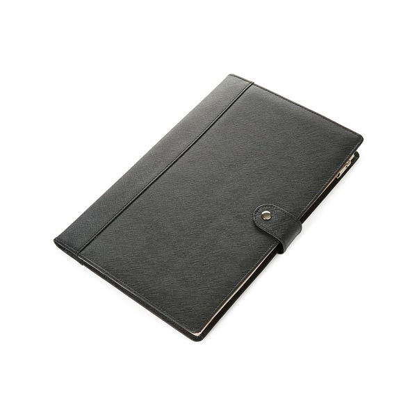 Morelle Naomi Saffiano Black Leather Jewelry Notebook